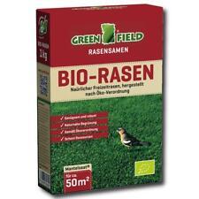 Greenfield Bio Rasen 1 kg Rasensamen Gras Saat Wiese Öko Mantelsaat Robust 50m²