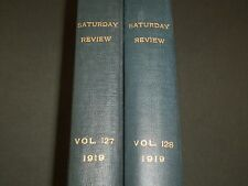 1919 SATURDAY REVIEW 2 BOUND VOLUMES - COMPLETE YR- PUBLISHED IN LONDON - R 1124