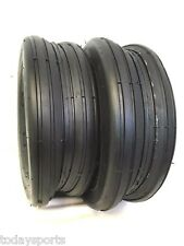 Two 13X5.00-6 13/500-6 Smooth Rib 4 Ply Deestone Lawn Mower Garden Tractor Tires