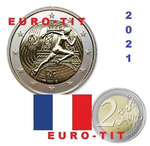 FRANCE       2  EURO    JEUX OLYMPIQUES    2021    NEUVE    2021    disponible