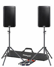 """2x Alto Ts310 10"""" 4000w Powered Active PA Speaker Stage Monitor DJ Band Leads"""