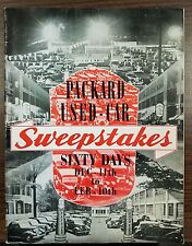 Packard Motor Car Company Used Car Sweepstakes 1938 Dealer Sales Contest