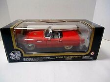 Road Tough '1955 Red Ford Thunderbird Convertible w / Hard Top'  Die-Cast 1/18