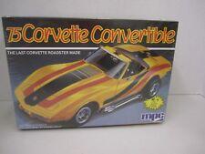 75 Corvette Convertible model kit - MPC - 1/25 scale - New Sealed