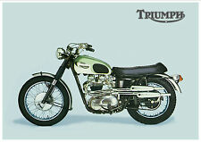TRIUMPH Poster TR6C Trophy 1966 & 1967 Bike Suitable to Frame
