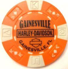 Harley Poker Chip   GAINESVILLE HD  GAINESVILLE, FL    ORANGE