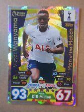 Match Attax 2017/8 MOTM card - Victor Wanyama of Tottenham #426