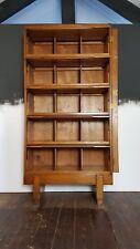 Vtg 50s Oak Staverton Haberdashery Pigeon Holes Cabinet Shop Unit Shelving