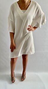 Malissa J Cream Frill Chiffon Dress, One Size