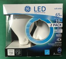 GE LED BR30 Indoor Floodlight Spotlight Bulb •6-Pack Recessed 65W/10W -BRAND NEW