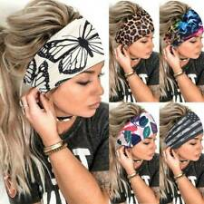 Women Wide Headband Stretch Hairband Elastic Sports Yoga Hair Band Boho Turban