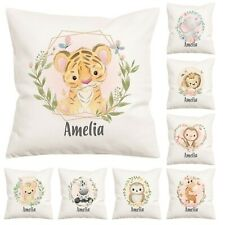 Personalised Decorative Watercolour Animal Pillow Cover Pillowcase Childrens