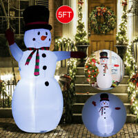 5' Inflatable Christmas Snowman Airblown Holiday Yard Outdoor Lighted Decoration