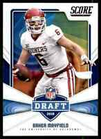 2018 Score Draft Baker Mayfield RC Rookie Oklahoma Sooners #17