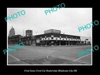 OLD POSTCARD SIZE PHOTO OKLAHOMA CITY OK USA FRED JONES FORD CAR DEALERSHIP 16