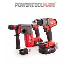 Milwaukee M18 Combi and SDS Drill Fuel Thunderbolt Kit - M18ONEPP2N-502B