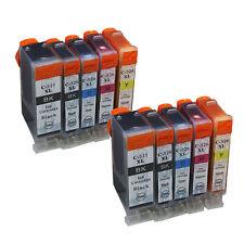 PGI-525XL CLI-526XL Printer Ink Cartridges for Canon 525 526 MG8150 MG6150 10PCS