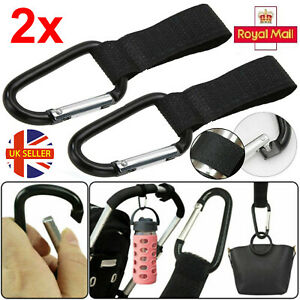 2 Pcs Buggy Clips by Buggy Basics - Hook Shopping Bags to Your Pushchair