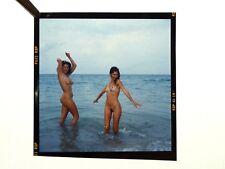 Nudism NACKTER SPASS IM MEER * Vintage 60s LILO KORENJAK Dia / Druckvorlage #3