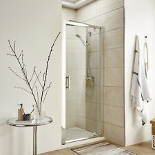 Pivot Door Shower Enclosure Cubicle Tray 6mm Glass Screen Side Panel Free Waste