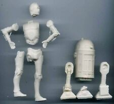 """Set of 3.5""""Star Wars R2D2 and 5""""C3PO Robot Classic Movies Resin Model Kits 1/12"""