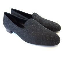 S-345988 New Saint Laurent Sugar Changy Black Moon Shoe Size US-9.5 Marked 39.5