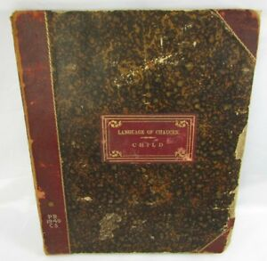 Language Of Chaucer Francis John Child 1862 Haverford College Library Hardcover