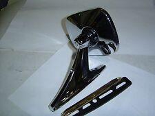Chrome 5 Inch125mm Rectangular Head Exterior Rear Vision Mirror Door/Guard Mount