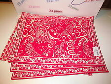 VERA BRADLEY  4  PLACEMATS SOLD OUT DISCONTINUED TWIRLY BIRDS PINK LOT OF 4 NWT