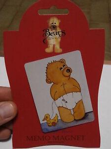 Rare Réfrigérateur Aimant Sarah Jane Bears Collection Pour Réfrigèrateur