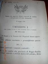 REGIO DECRETO 1879 APPR CONTRATTI VENDITA PERMUTA BENI DEMANIALI COMUNI INSERZ