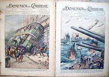 396) 1931 INCIDENTE TRAM A GLASGOW E GUERRA IN SCOZIA 2 DOMENICHE DEL CORRIERE