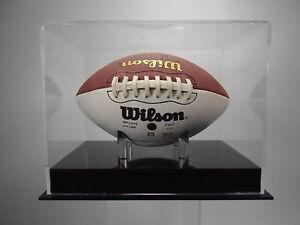 Mini size football display case 85% UV filtering acrylic plastic memorabilia NFL