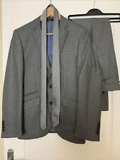 Cedar Wood State Men's Grey 2 Piece Suit Jacket 36S Slim Fit Trousers W30 & Tie
