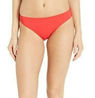 Tory Burch Swimwear Solid Hipster Bikini Bottoms Poppy Red Women's Swimwear Sz S