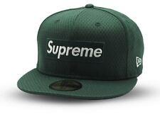 Supreme New Era Box Logo Fitted Green Size 7 1/2 Hat 2018 Baseball World Famous