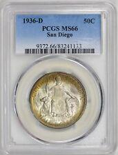 1936-D San Diego Commemorative Half Dollar, PCGS MS66