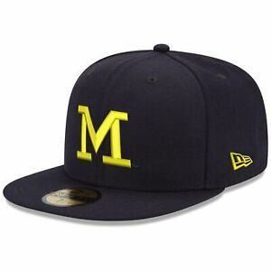 New Era Michigan Wolverines Thin M 59FIFTY Fitted Hat