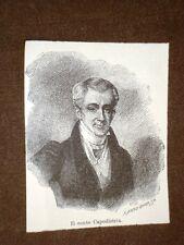 Conte Giovanni Antonio Capodistria Corfù 11 febbraio 1776 Nauplia 9 ottobre 1831