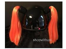 Helmet Pigtails ~ Motorcycle Skateboarding ATV Biking Snowmobile Bike~ Pig Tail