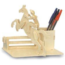 Equitazione Pen Holder Woodcraft Construction Kit - 3d in legno modello Bambini/Adulti