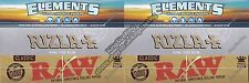 KING SIZE RIZLA SILVER, ELEMENTS AND RAW ROLLING PAPERS SET