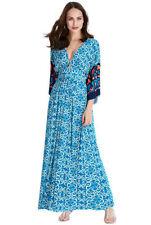 Paisley Long Dresses for Women with Kimono Sleeve