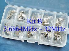 50, Kit B Quartz 10 Values 3.6864MHz ~ 32MHz Crystal Resonator HC-49US YXC