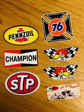 PENNZOIL CHAMPION HORSEPOWER STP 76 Aufkleber Sticker 7 Stück Set Biker V8 Se009