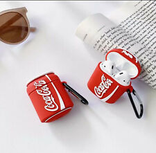 Vintage Coke Coca Cola Apple iPhone Airpod Charging Case Cover w/Carabiner