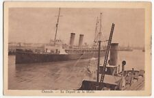 Ostend; The Departure of the Malle (Mail Ship?) PPC, Unposted