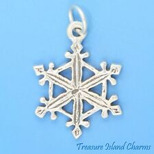 SNOWFLAKE Winter Snow Christmas .925 Sterling Silver Charm