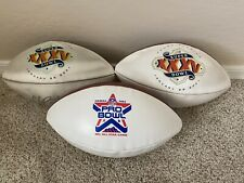 Nfl Super Bowl Signed Pro White Panel Football Autographed Collectible 2001 2002