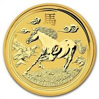2014 1/2 oz Australian Gold Lunar Year of the Horse Coin Series 2 (In Capsule)